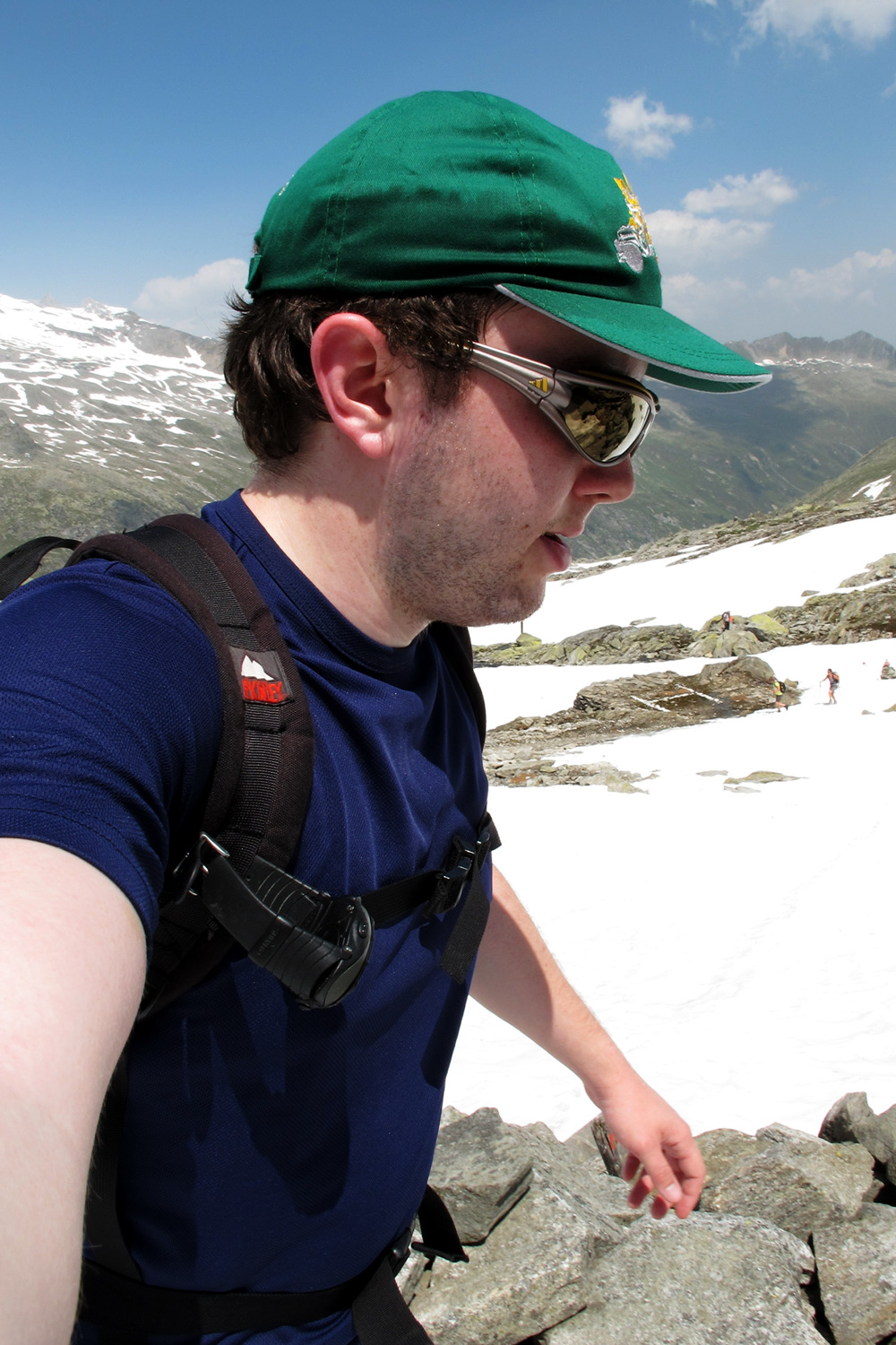 Me, hiking on snow just below the Krimml Tauern pass.