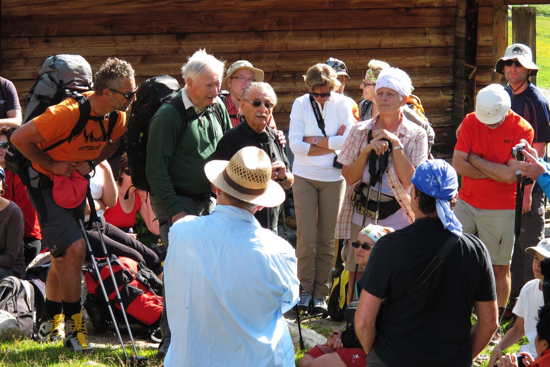 Marko Feingold at the Alpine Peace Crossing 2012.