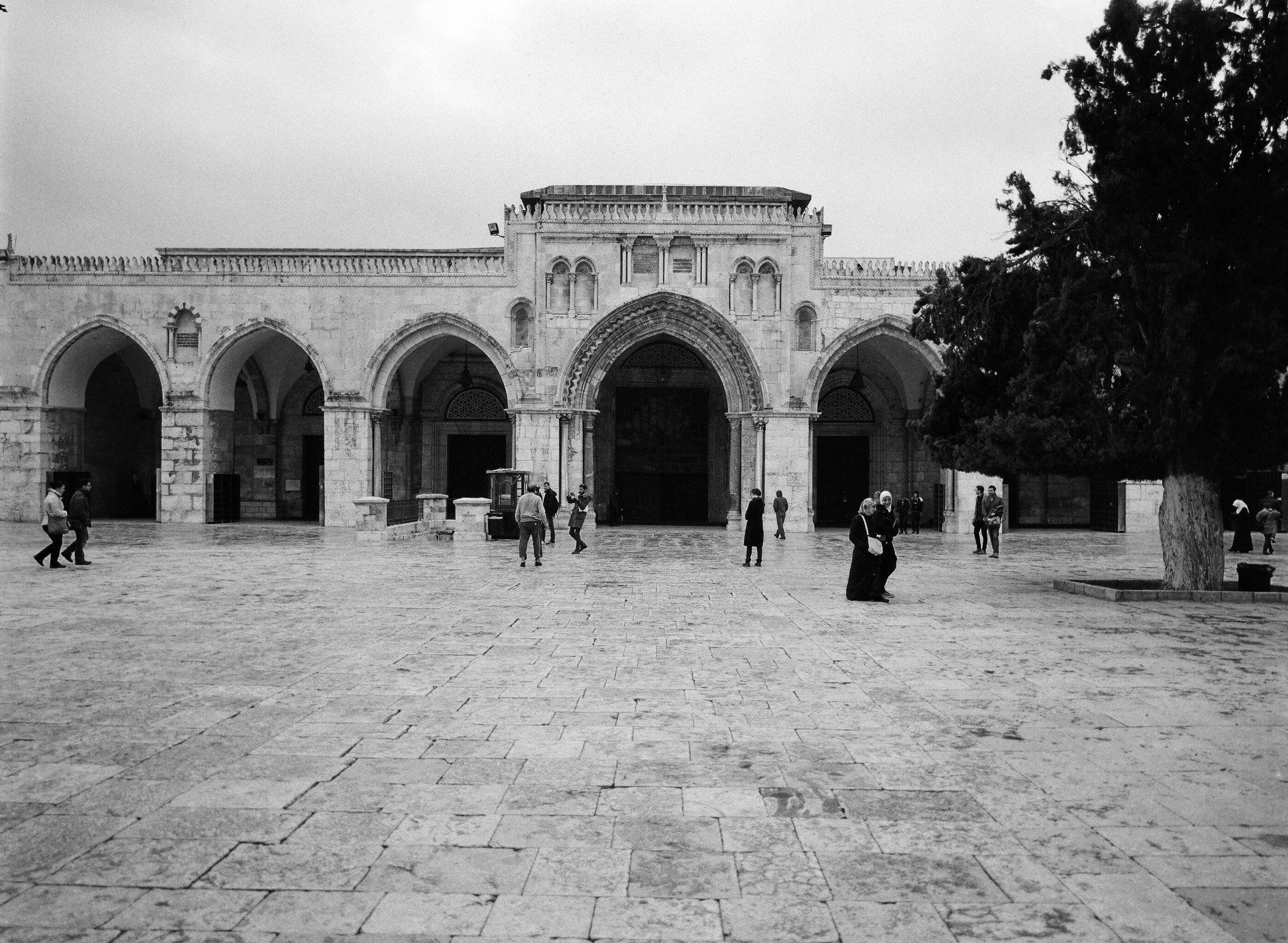 Northern facade of the Al-Aqsa mosque, Jerusalem, Israel.
