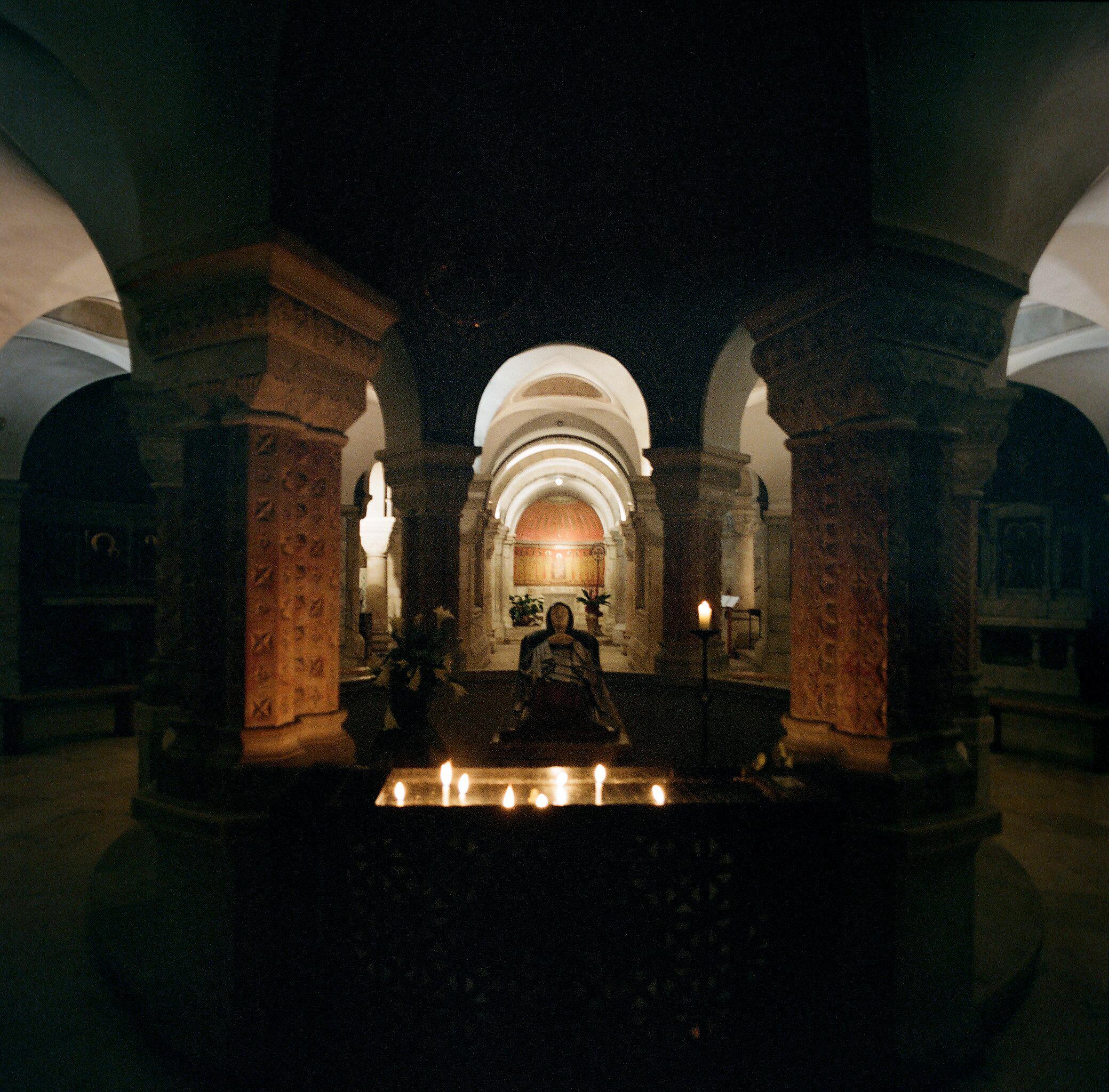 Crypt of the Basilica of the Assumption, Jerusalem, Israel.