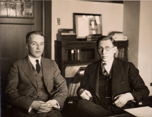 Frederick Banting (right) and Charles Best (left), ca. 1924.
