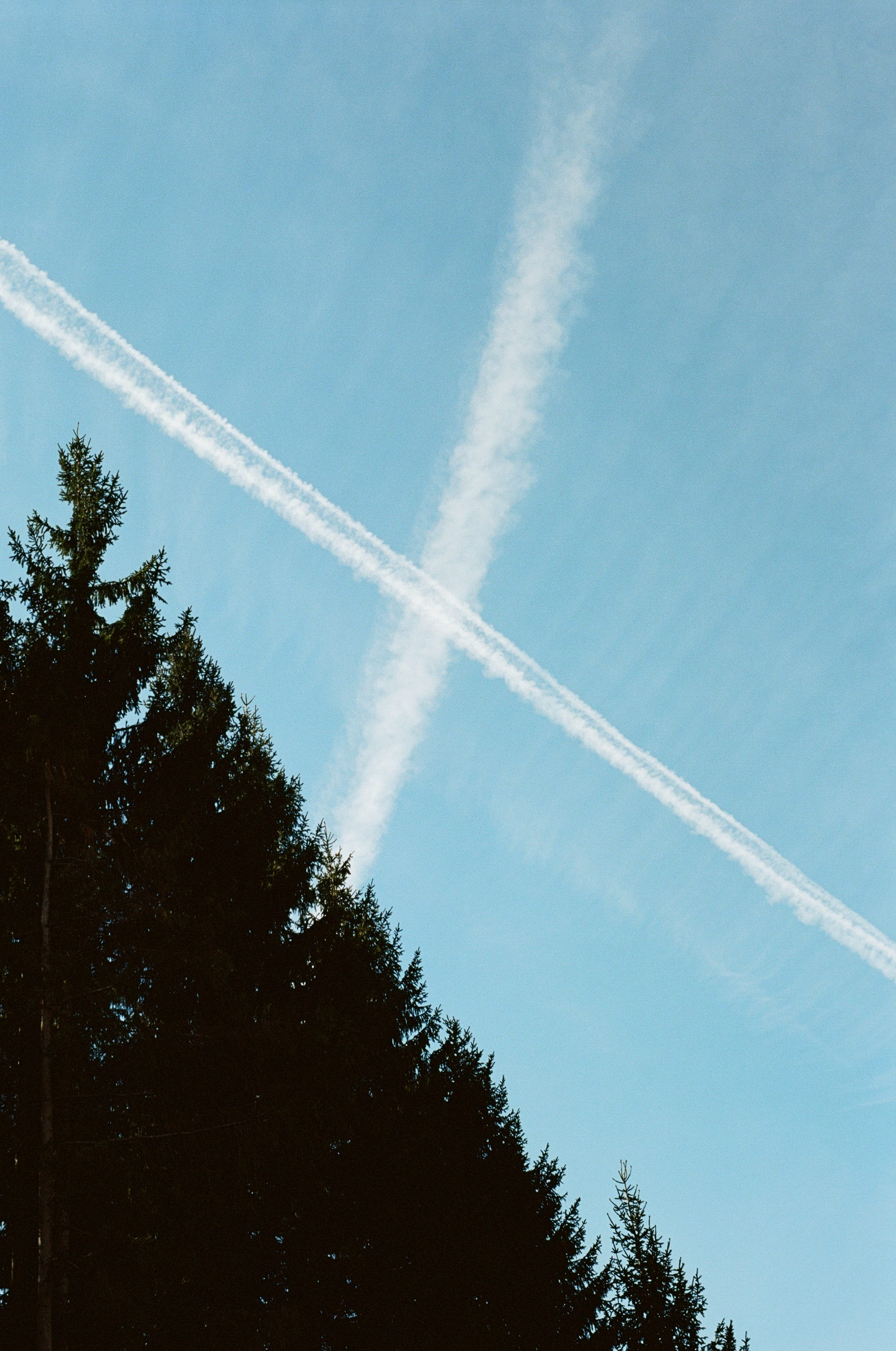 Fall Impressions 2 - Contrails in the sky